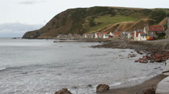Crovie waterfront Scotland Stock Footage