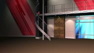 Stock Video Footage of News Studio Chroma Key / Green Screen Background Loop