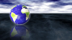 Earth Spinning Motion Background Stock Footage