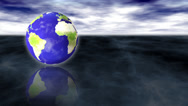Stock Video Footage of Earth Spinning Motion Background
