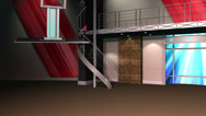 Stock Video Footage of News Studio Chroma Key / Green Screen Background