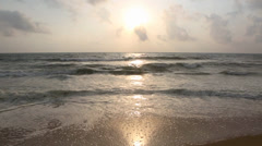 Waves and beach time lapse Stock Footage