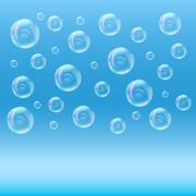 SPA aqua background with soap bubbles Stock Illustration