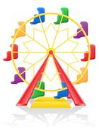 Ferris wheel illustration Stock Illustration