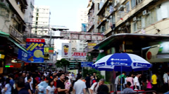 Apliu street in sham shui po of hong kong Stock Footage