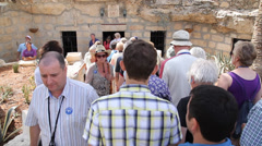 Tourists visiting the ruins Stock Footage