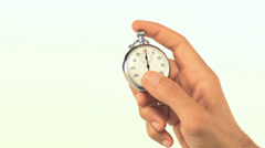 Man pressing stop watch - stock footage