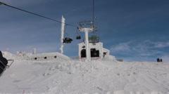 Hermon Mountain Ski Resort Cable Car Station Stock Footage