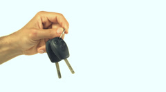 Man holding car keys - stock footage