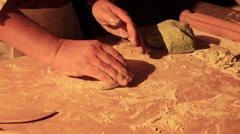 Home made pasta - Italian style, Italian food Stock Footage