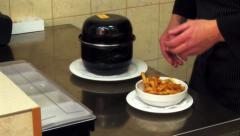 Finished dish at the restaurant. Stock Footage