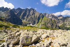 Bielovodska valley in high tatras, slovakia Stock Photos