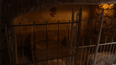 Inside the real tomb of Jesus Stock Footage