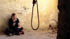Suicide Scene Stock Footage