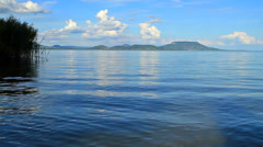 Landscape at Lake Balaton,Hungary Stock Footage