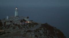 Light house at Cap Formentor Mallorca Stock Footage