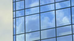 Time-lapse Modern glass building exterior - stock footage