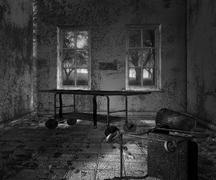 Dark asylum scary interior background Stock Photos