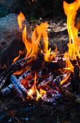 Close up of fire Stock Photos