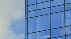 Glass facade of modern office building Stock Footage