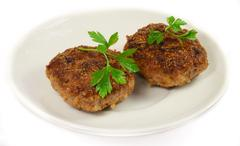 Stock Photo of isolated cutlet