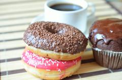 Stock Photo of cake and coffee