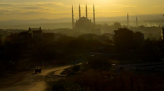 Sunset over Edirne - Turkey Stock Footage