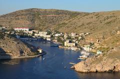 view of bay in balaclava - stock photo