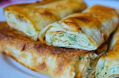 Stock Photo of lavash on the plate