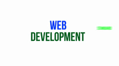 Web development Stock Footage