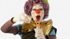 Clown and soap bubbles Stock Footage