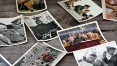 Nazi Cigarette Cards Stock Footage