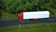 Stock Video Footage of truck driving along country road