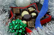 Stock Photo of christmas chocolates