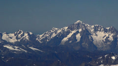 Mont Blanc south face aerial Stock Footage