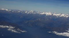 Mont Blanc Range south side aerial Stock Footage