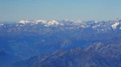 Alps mountain range aerial Stock Footage