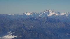 Mount cervino aerial Stock Footage