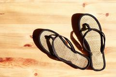 Female flip-flops Stock Photos