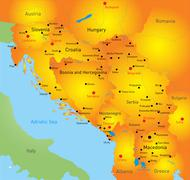 Stock Illustration of Balkan  map