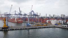 Tilt Shift Cartagena Stock Footage