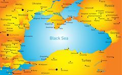 Black sea region Stock Illustration
