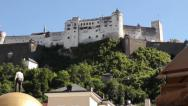 Stock Video Footage of salzburg castle