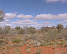 Vehicle shot Central Australian desert along Stuart Highway, Red Center Stock Footage