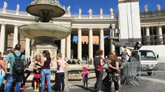 Restoration work on St Peters in Rome 8 Stock Footage