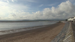 Exmouth seafront and beach Stock Footage