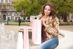 cool shopper. - stock photo