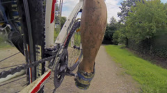 Mountain biking Stock Footage