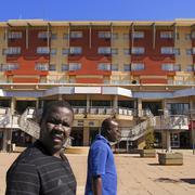 mainmall shopping area in gaborone botswana - stock photo