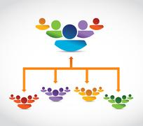Joining teams. leader selection. best candidates Stock Illustration